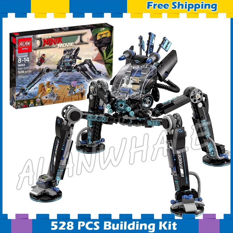 528pcs New Ninja Water Skipper Measurer Mech Robots 10717 Model Building Blocks Children Assemble Toy Brick Compatible With lego lepin 663pcs ninja killow vs samurai x mech oni chopper robots 06077 building blocks assemble toys bricks compatible with 70642