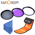 K&F CONCEPT 37MM Lens FLD UV CPL Circular Polarizer Filter Kit For Olympus PEN E-PL1 E-PL2 E-PL3 E-PL5 14-42mm