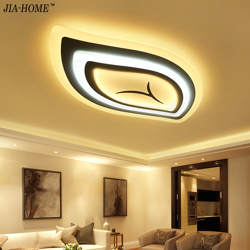 Modern Led Ceiling Lights Remote Control For Living Room Light Fixture Leaf  Shape Lamparas De Techo