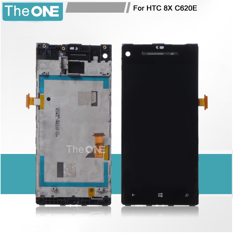 100% Test LCD Display +Touch Screen Digitizer Assembly For HTC 8X C620e With Frame Free Shipping test ok for htc one max lcd display touch screen digitizer panel with frame assembly free shipping track code