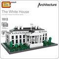 Loz bloques de construcción de juguetes educativos modelo de arquitectura de la casa blanca para los niños diy montaje de juguetes de plástico ladrillos niños 1013