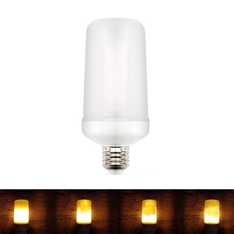 E27 E26 Led Flame Lamp 110V 220V LED Flame Effect Light Bulb E27 Flickering Fire Lights Decorative Lamp Two/ three modes