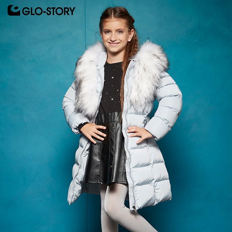 GLO STORY European High Quality Brand Teenage Girls Winter Thick Warm Long Coats Kids Children Parkas