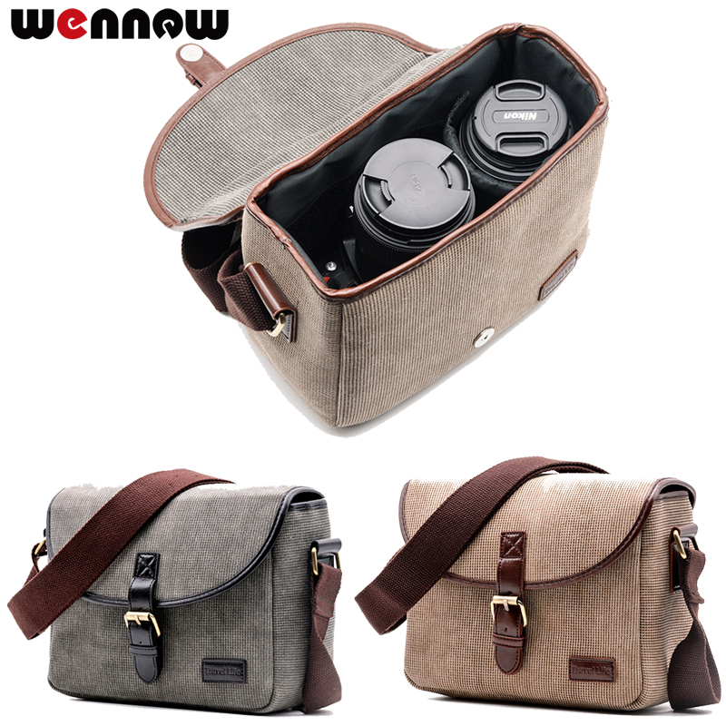 Wennew Retro Camera Bag Photo Case For Sony Alpha A7 A77 Mark Ii Iii 2 A3000 A3500 A33 A33v A35 A37 A55 A55v A56 A57 A58 A65 A68 A Great Variety Of Models Consumer Electronics Digital Gear Bags