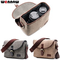 wennew Retro Camera Bag Photo Case for Sony Alpha A7 A77 Mark II III 2 A3000 A3500 A33 A33V A35 A37 A55 A55V A56 A57 A58 A65 A68