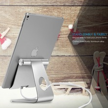 Portefeuille Tablet Holder For iPad Pro 10.5 12.9 Aluminum Stand For Apple iPhone X 8 7 Samsung Galaxy Tab A 10.1 Tablet Support