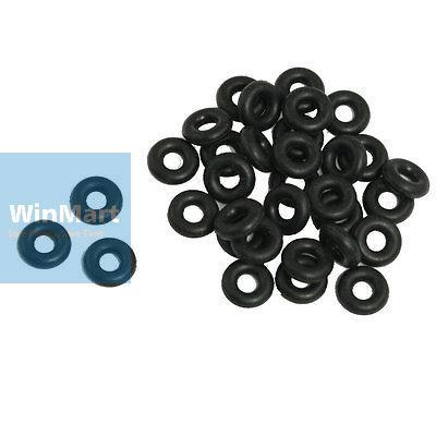 100 Pcs 10mm x 3mm x 4mm Mechanical Black NBR O Rings Oil Seal Washers