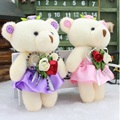 promotion 12 pcs/lot lovely  bears toys for bouquet high quality soft stuffed toys mini teddy bears dolls Valentine's day gifts