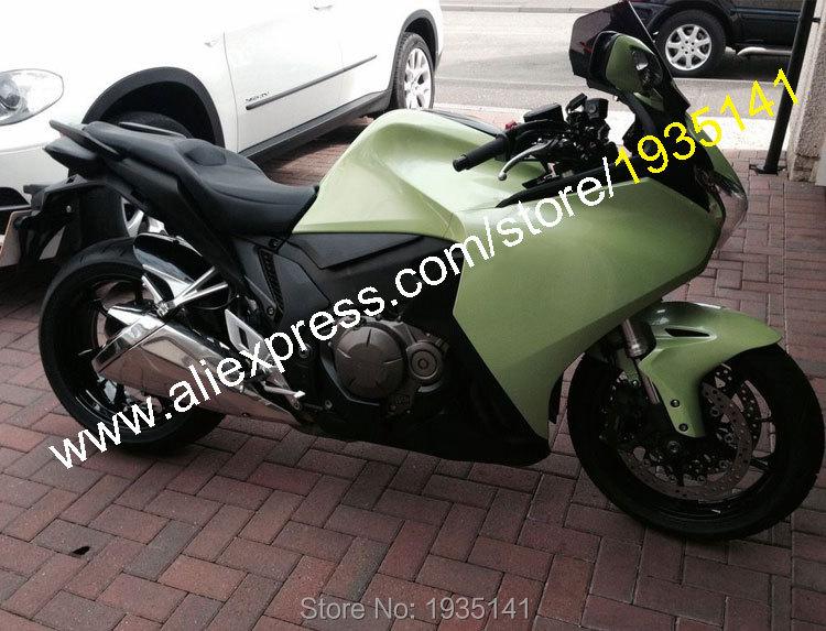Горячие продаж,обвес для Honda VFR1200 2010 2011 2012 2013 ВФР 1200 10 11 12 13 зеленый черный Спортбайк обтекатель (литье под давлением)