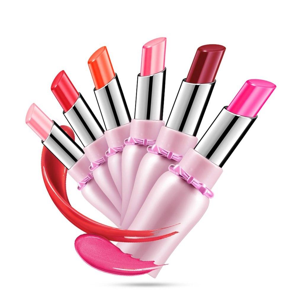 Longlasting Lipstick Moisturizing Waterproof Women Makeup Fa