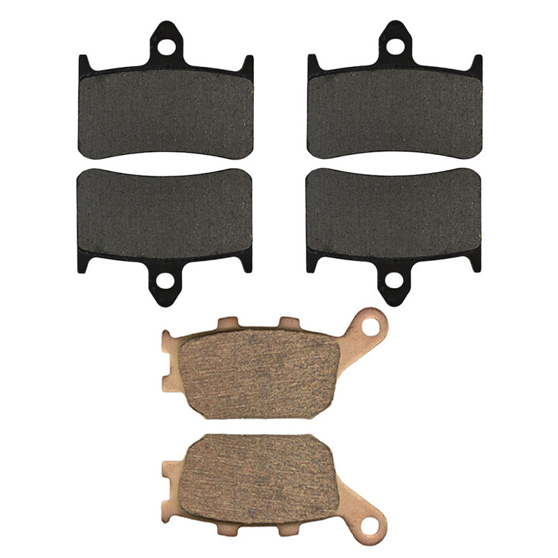 Motorcycle Front and Rear Brake Pads for HONDA VTR1000F VTR1000 F Super Hawk 1998-2005 Brake Disc Pad Kit motorcycle front and rear brake pads for suzuki gsx 750 gsx750 f katana 1998 2006 black brake disc pad