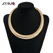 Lzhlq женские крупные ювелирные изделия в стиле панк металлическое