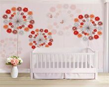 beibehang Customized stereo papel de parede wallpaper Nordic minimalistic butterfly dandelion background wall papers home decor beibehang custom wall papers home decor papel de parede blue floral butterfly living room sofa background wall 3d wallpaper