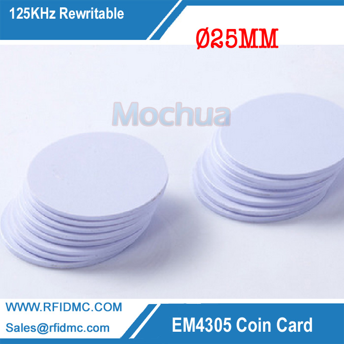 125KHz EM4305 Tag PVC With Rewritable Coin Cards For Copy Key