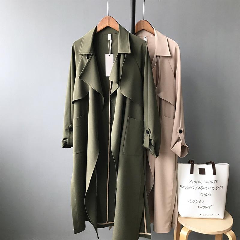 Women's Casual Loose Design Trench Coat 15