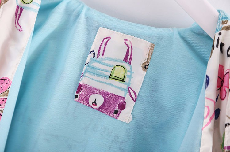 moda pintados à mão crianças roupas protetor solar meninas