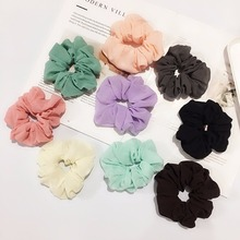 Hair Accessories Elastic Scrunchies Solid Chiffon Ties Gum Rubber Rope Ponytail Holder Band Ring