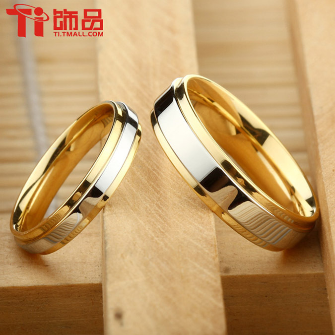 Super Deal Size 3 14 Titanium steel Womanand Mans wedding Rings