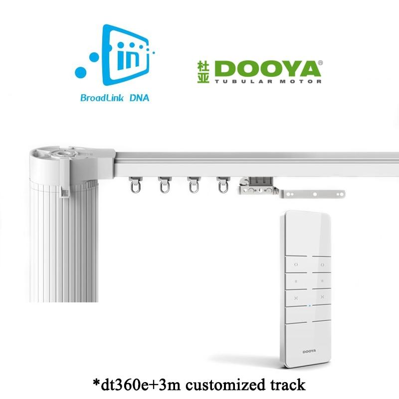 Ewelink Broadlink DNA Dooya WiFi Curtain Motor 3M Customizable Aluminum Electric Window Curtain Track Rod Rail