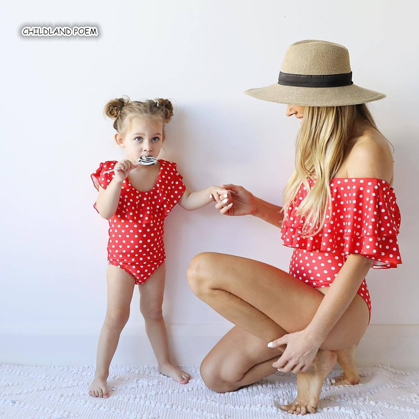 Mother Daughter Swimsuit 2019 Family Look Mom And Daughter Swimwear Mommy And Me Clothes Family Matching Clothes Bathing Suit