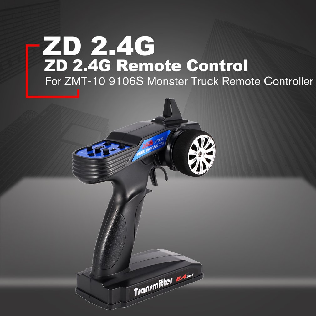 GoolRC Racing 2.4G 2CH RC Radio Control Remote Controller Transmitter Receiver for ZMT-10 9106S Monster Truck RC Car Boat HOT!