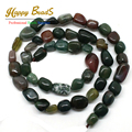 5mm-8mm Smooth Irregular Natural India Agate Stone Loose Beads 15.5inch/strand DIY Bracelets (F00552)