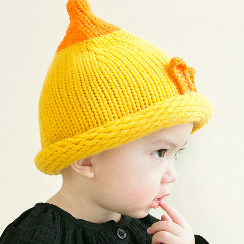 Baby Infant Winter warm Hat and Scarf Set The new Gold Crown hats scarves winter suit jacket cottoberet hat baby infant childcap