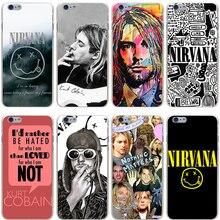 Nirvana Kurt Cobain Hard Transparent Cover Case for iPhone 7 7 Plus 6 6S Plus 5 5S SE 5C 4 4S