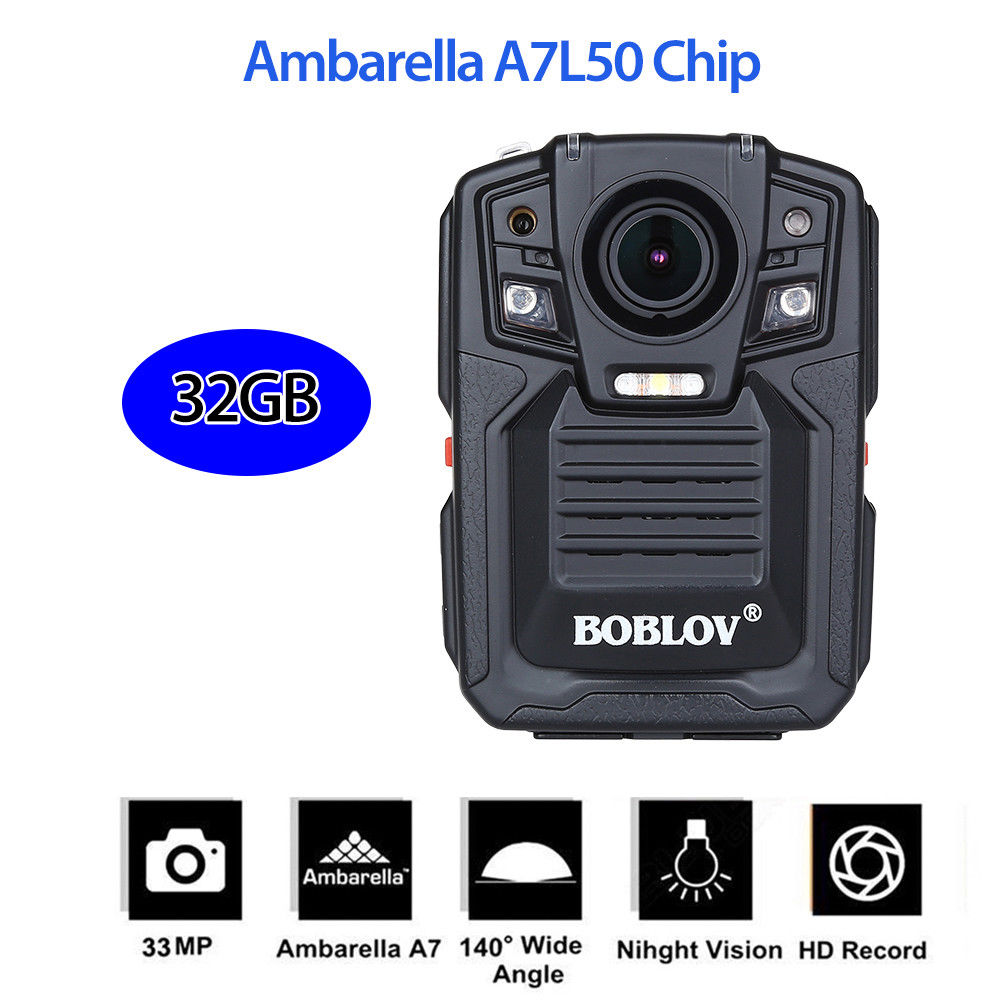 BOBLOV HD66 02 Body Worn Camera Police Force Pocket Video Recorder 32GB 1296P Night Vision with