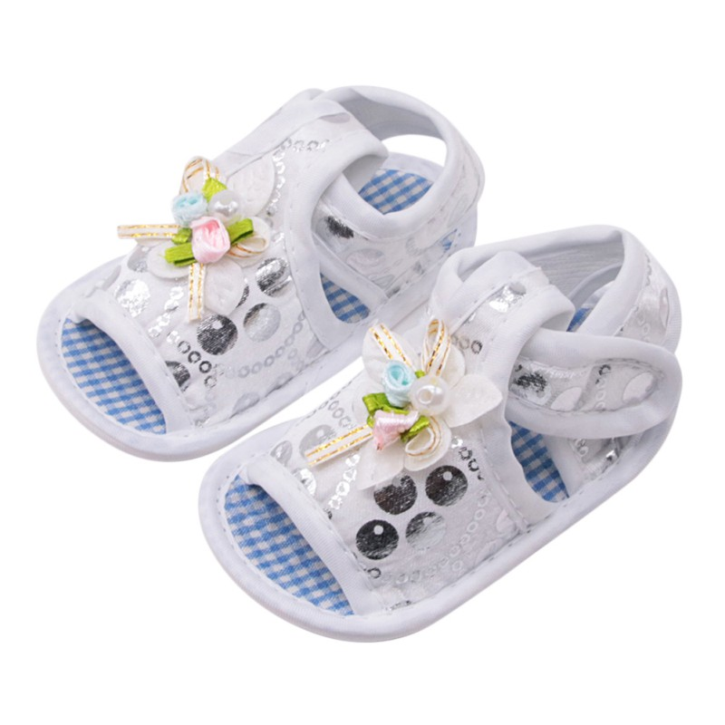 Fashion Baby Girl Ghoes Baby Girl Princess Shoes Big Bow Floral First Walkers Soft Sole Anti-Slip Kids Crib Footwear