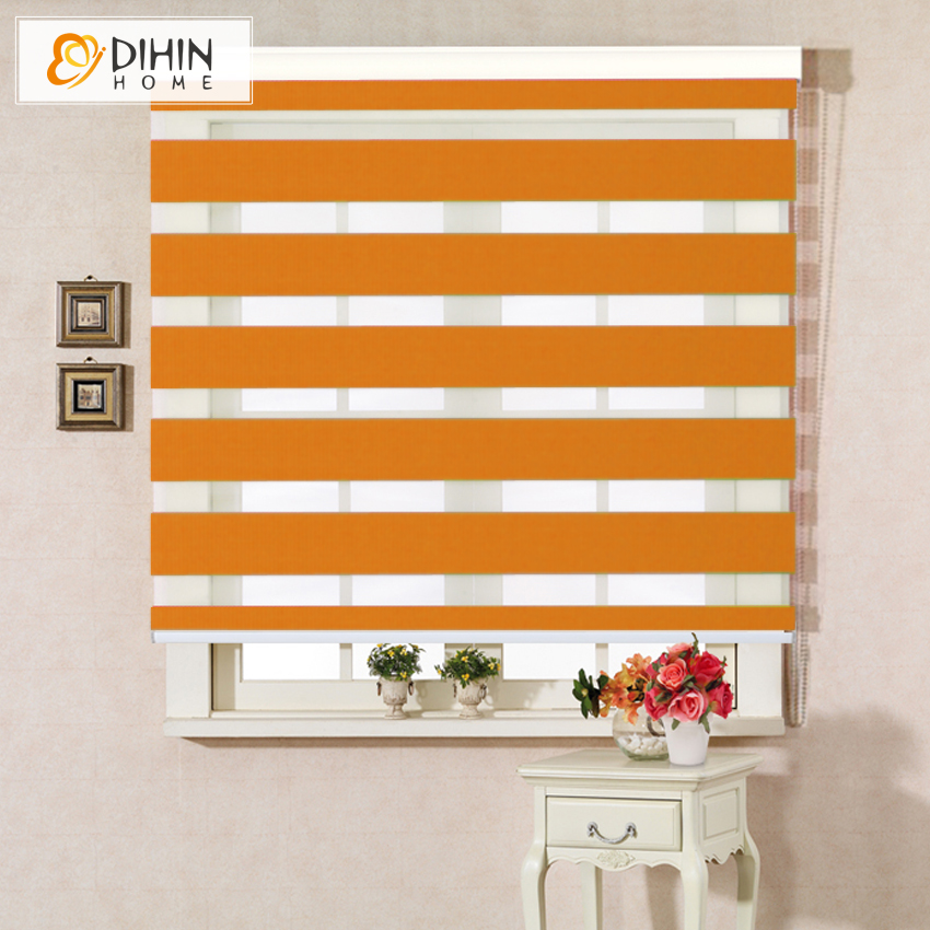 Included Curtain New Arrival Thickening Roller Blind Shutter Double Layer Shade Blinds Custom Curtain Zebra Blinds