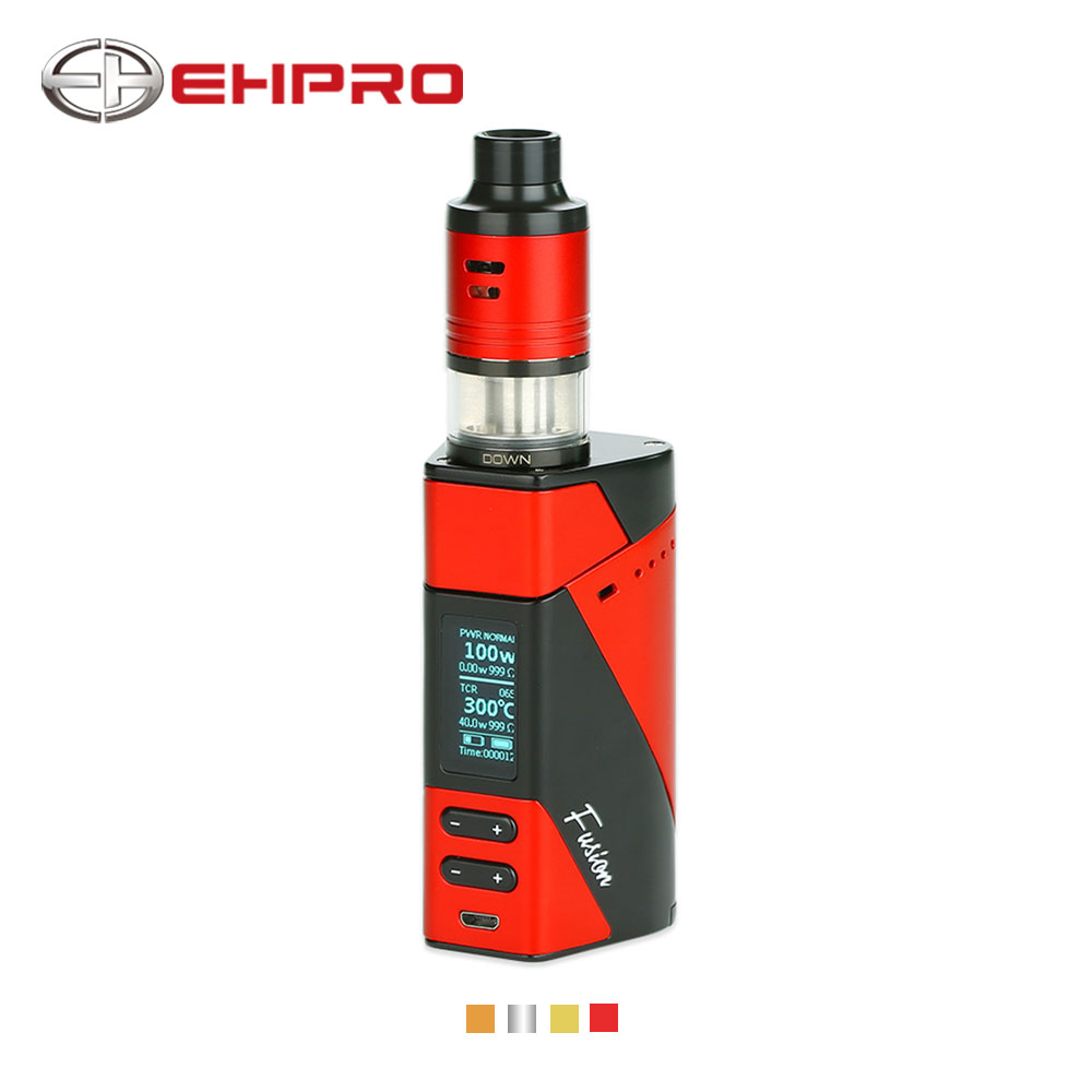 все цены на 2018 New 150W Ehpro 2in1 Fusion TC Kit with 2 Ml Fusion Tank & 0.5-8V Output Voltage No 18650 Battery E-cigarettes Vape TC Kit