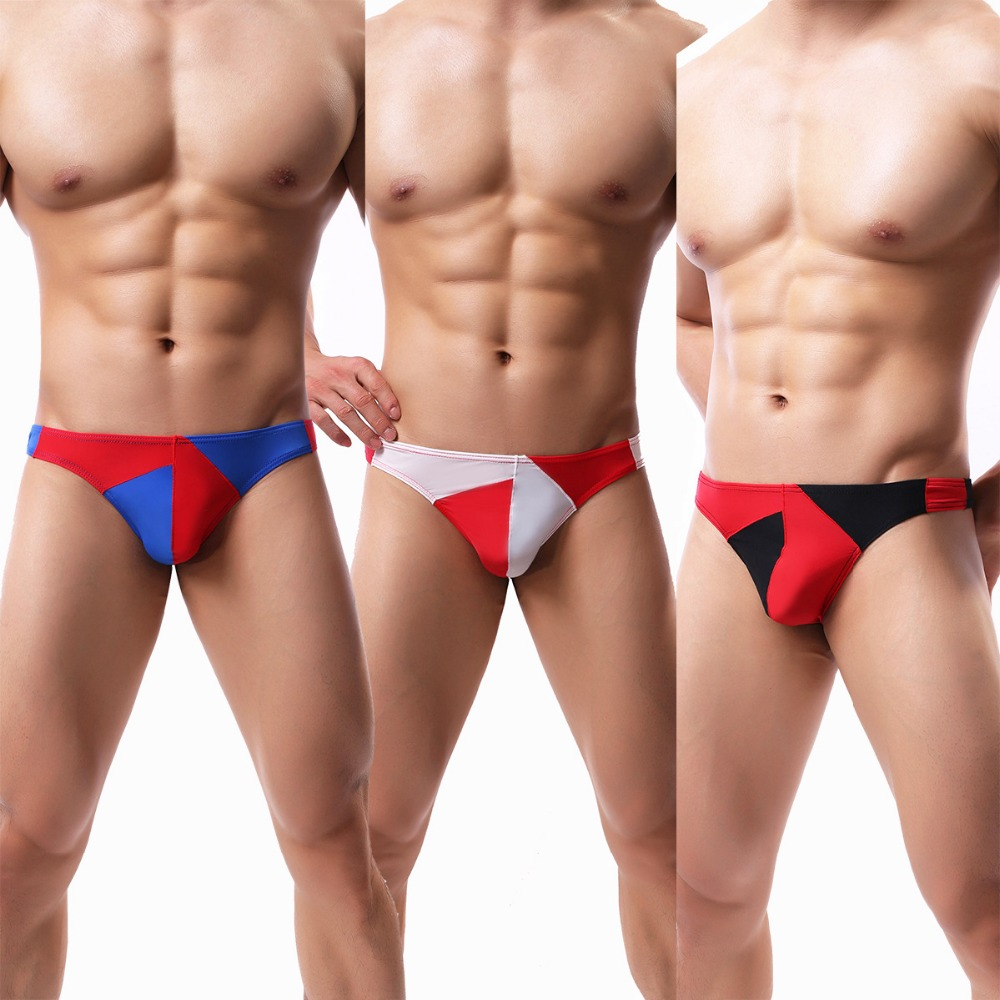 Men's Erotic Christmas <font><b>Lingerie</b></font> Ice Silk European Size T Thongs <font><b>Gay</b></font> <font><b>Sexy</b></font> Club Party Underwear Men Ropa <font><b>Interior</b></font> Hombr B153 image