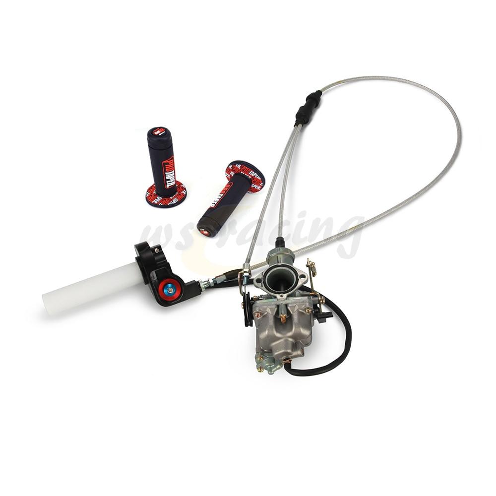 Motorcycle 30mm PZ30 Carburetor Fuel Throttle Dual Cable Pro Grips For Keihin 200CC 250CC Pit Bike Dirt Bike ATV two cylinder pd26 26mm carburetor 250cc for honda 250cc motorcycle dirt bike atv hk 101