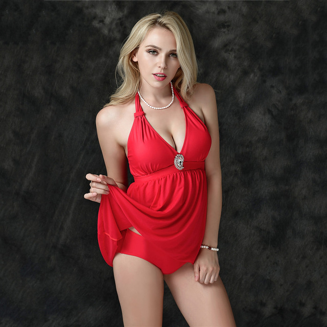 311ce843263e2 women plus size bikini set female solid dress skirt swimsuit summer swimming  beach wear show body Slim swimwear fold biquini