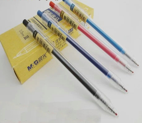 2017 M&G AGP87902 RollerBall pen Gel ink Pen 0.5mm Office and schoole stationery wholesale Red/Black/ Blue/Light Blue Colors fountain pen rollerball pen 9 colors to choose from jinhao 699 office and school pen wholesale 24pcs lot free shipping