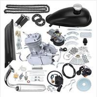 Бесплатная доставка 2 ход 80cc двигатель комплект газ для моторизованный цикл велосипед спидометр