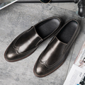 The new British business casual shoes set foot shoes retro hair stylist Bullock carved Korean Metrosexual shoes