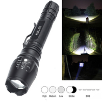 High Power Ultra Bright Police Military 5 Mode CREE XML T6 6000 Lumen Tactical Self Defense