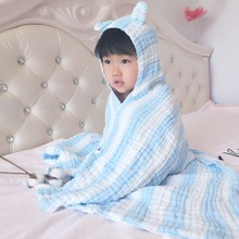 0-7 Kids Towel Spring Girl Cute Hooded Cartoon Towel Boy Beach Cute Clothes Children Colorful Cotton Bathrobe Water Absorption все цены