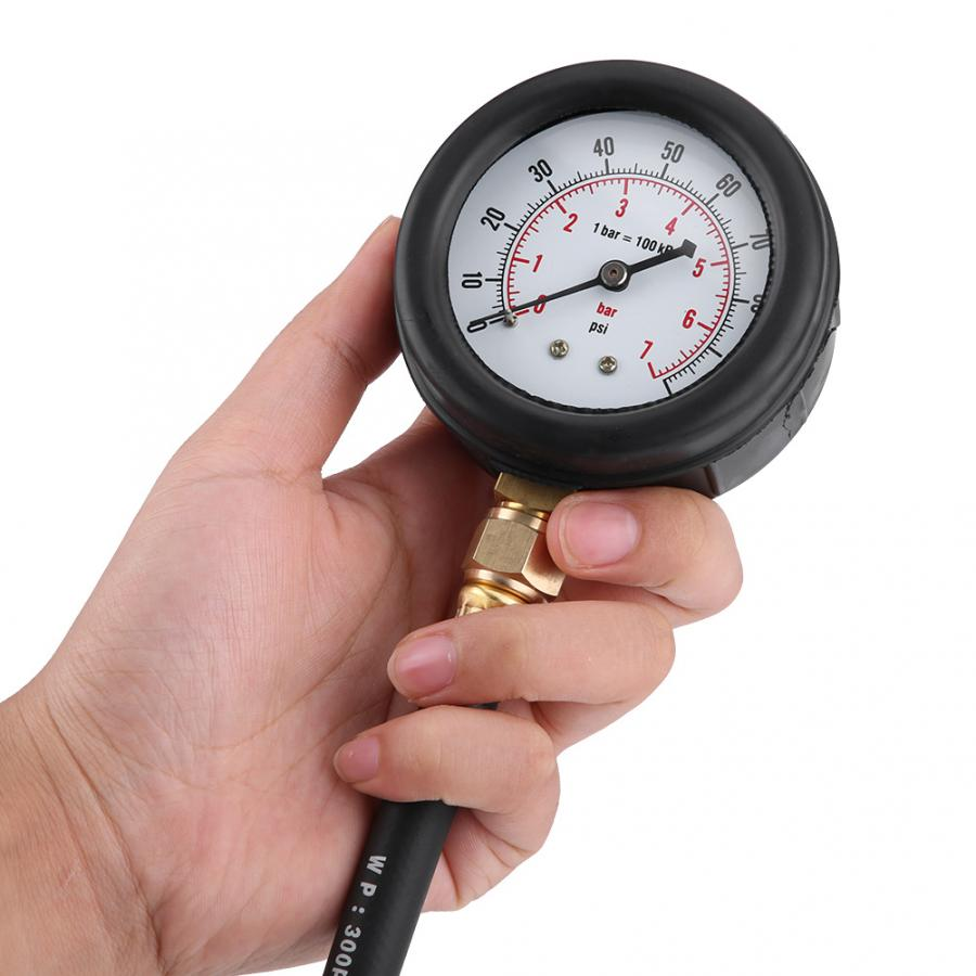 TU-113 Profession Fuel Injection Pressure Tester Pressure Gauge Gasolin 0-100psi