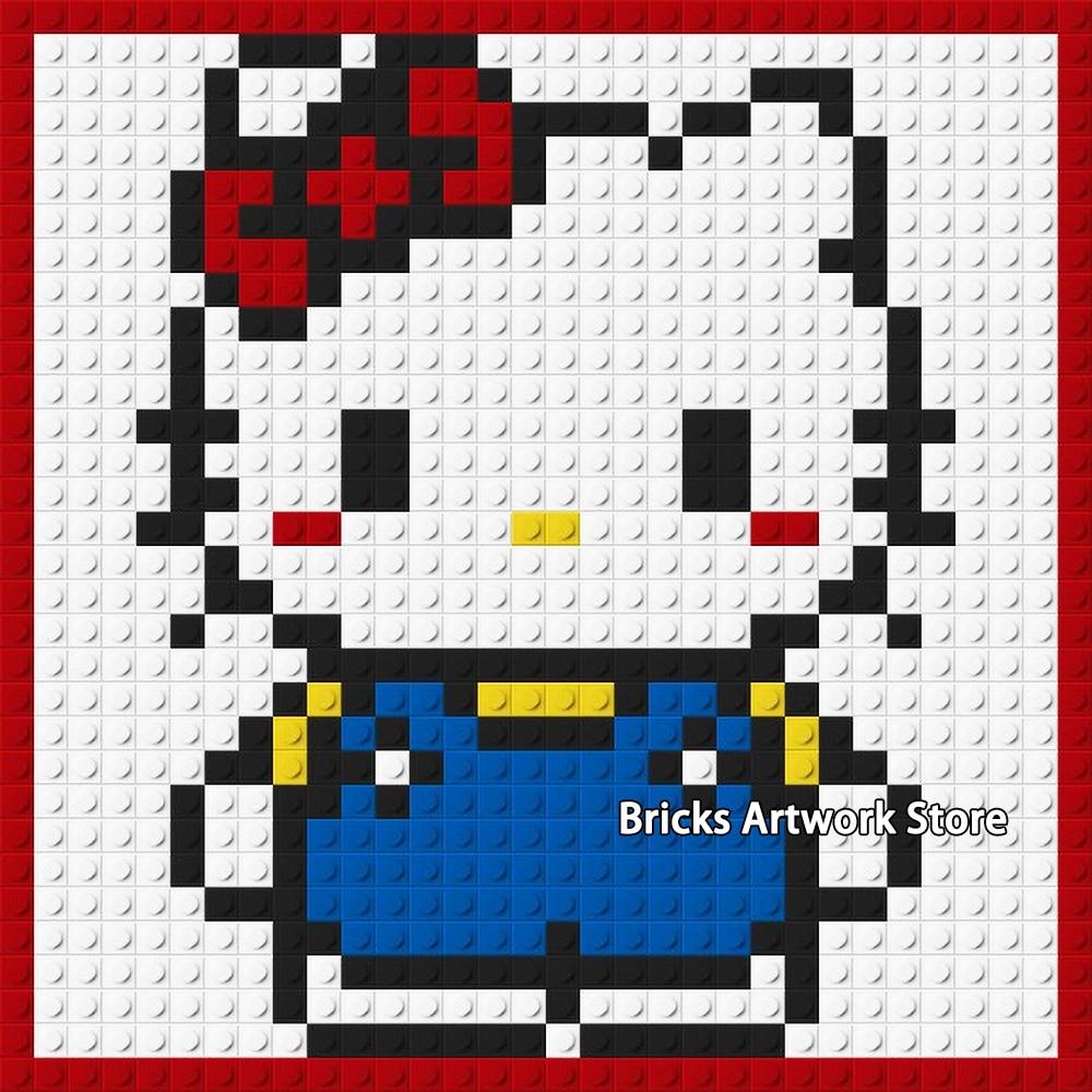 Hello Kitty Pixel Art