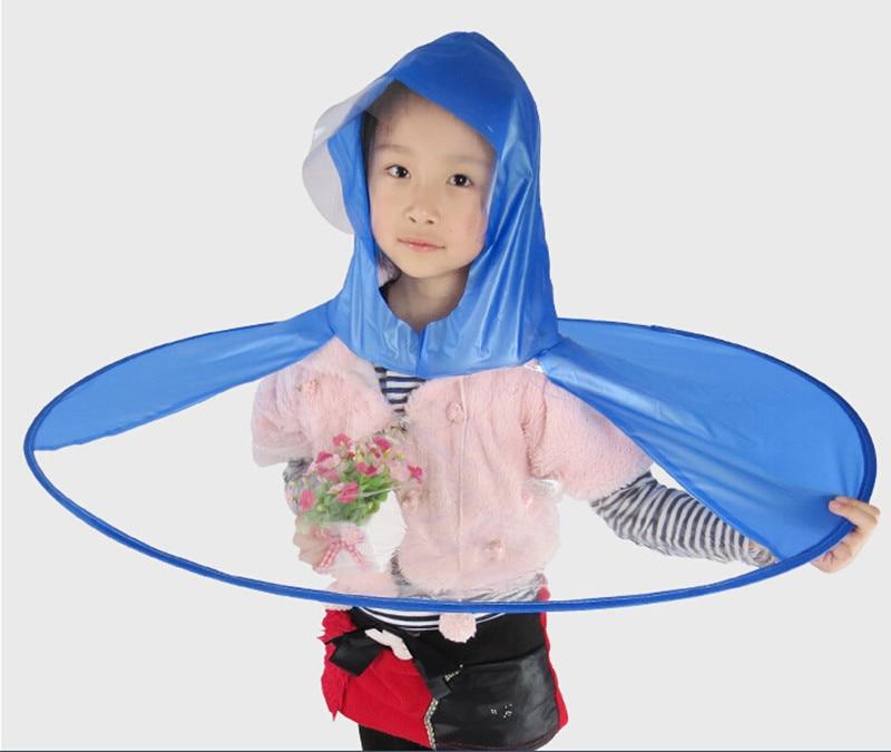 a7fceb78e7b Portable PVC Sleeveless Kids Poncho Raincoat UFO Shape Bamboo Rain Hat  Transparent-in Raincoats from Home & Garden on Aliexpress.com | Alibaba  Group