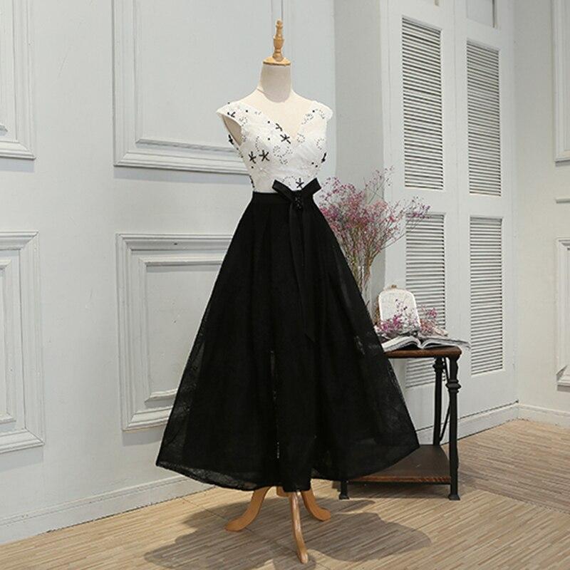 SOCCI Robe de Soiree Svart Lace Long Evening Dresses 2017 V Neck - Särskilda tillfällen klänningar - Foto 2