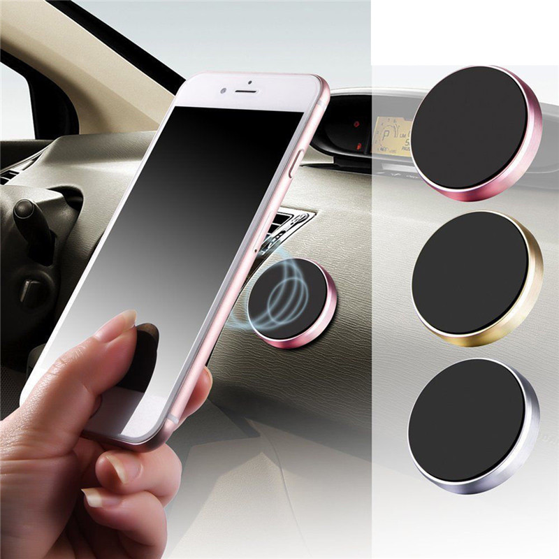 Smart Magnetic Car Phone Holder Universal Wall Desk Metal Magnet Sticker Mobile Stand Phone Holder Car Mount Support For Iphone X 7 Xs Mobile Phone Holders & Stands