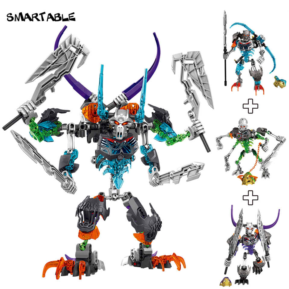Smartable BIONICLE Skeleton Mask Warrior Figures Building Block Toys For Boys Compatible legoing BIONICLE Best Gift 249pcs/Set