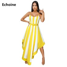 Vestidos Dress Summer Women Striped Maxi Dress Sexy Spaghetti Strap Long Pleated Dresses Elegant Party Dress Boho Femme Robe все цены