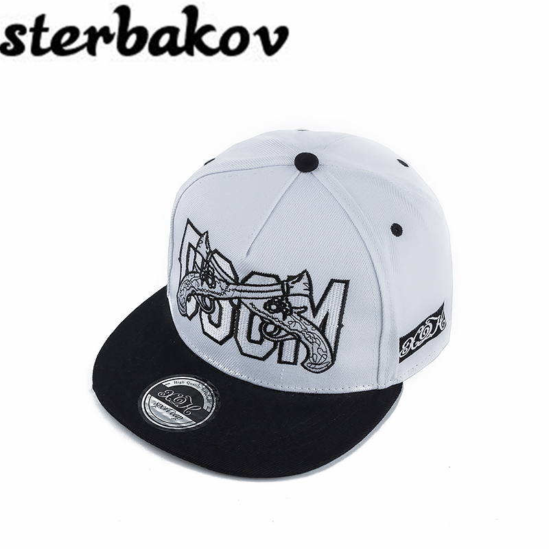 Brand sterbakov double gun pattern cotton hip hop hat men and women hat baseball cap fashion trend Hip Hop Snapback Caps Bone