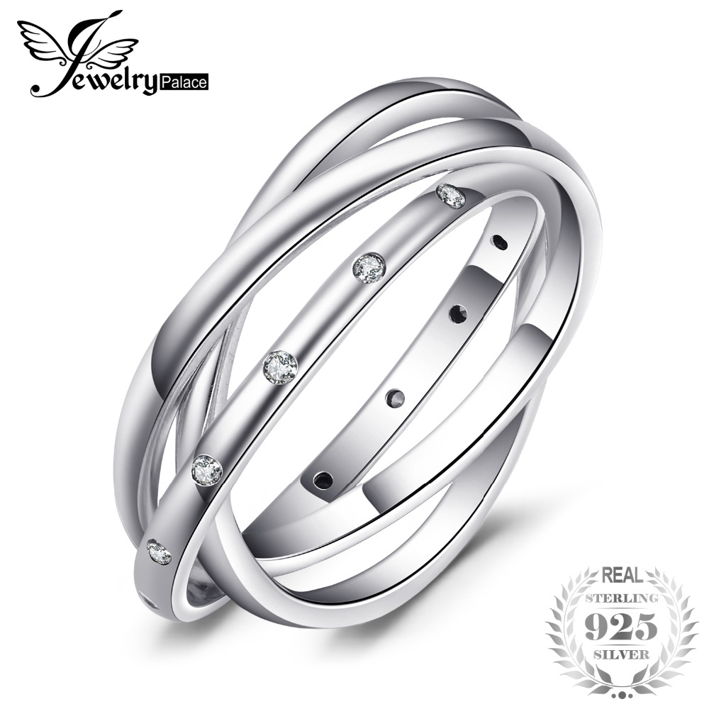 Bild von Jewelrypalace 100% Genuine 925 Sterling Silver Rings Elegant Swirl Fashion Jewelry Wedding Band Gifts For Women Fashion New