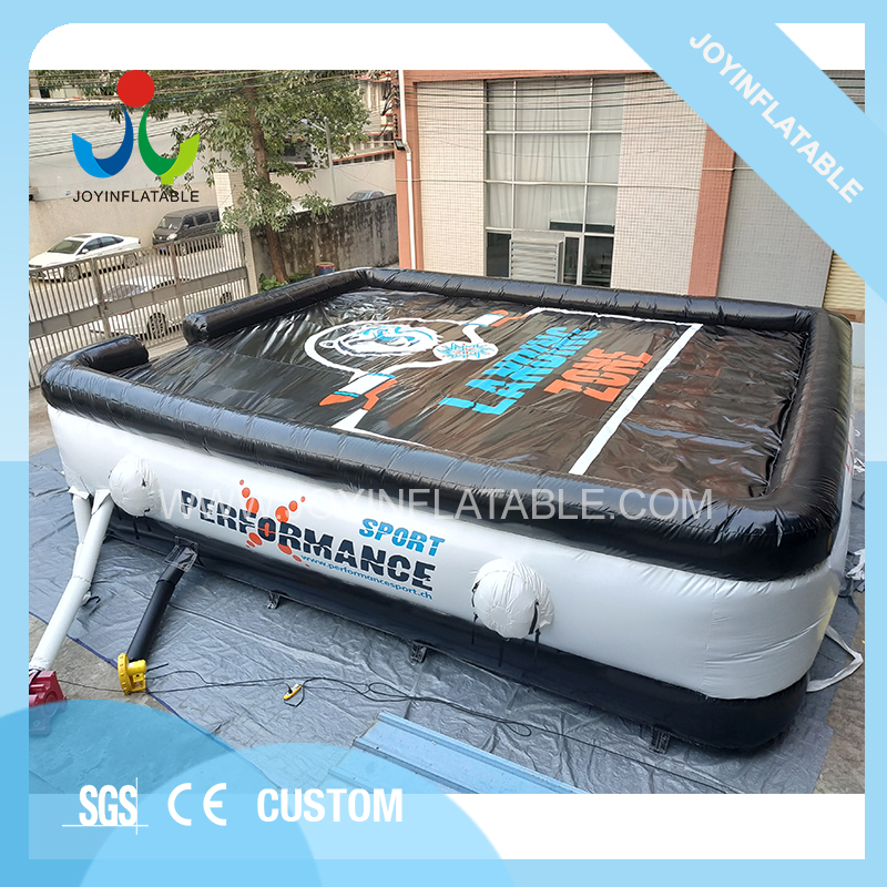 Giant Black Jumping Adults Trampoline Inflatable Airbag Cushion for Sport on Sale